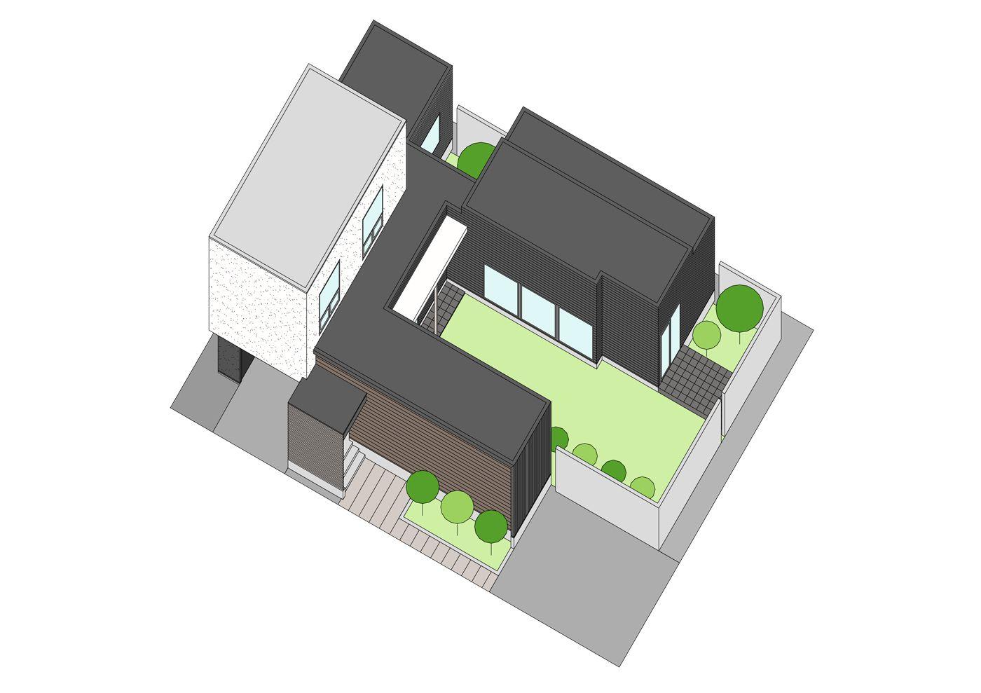 ドッグラン(中庭)のある事務所併用住宅