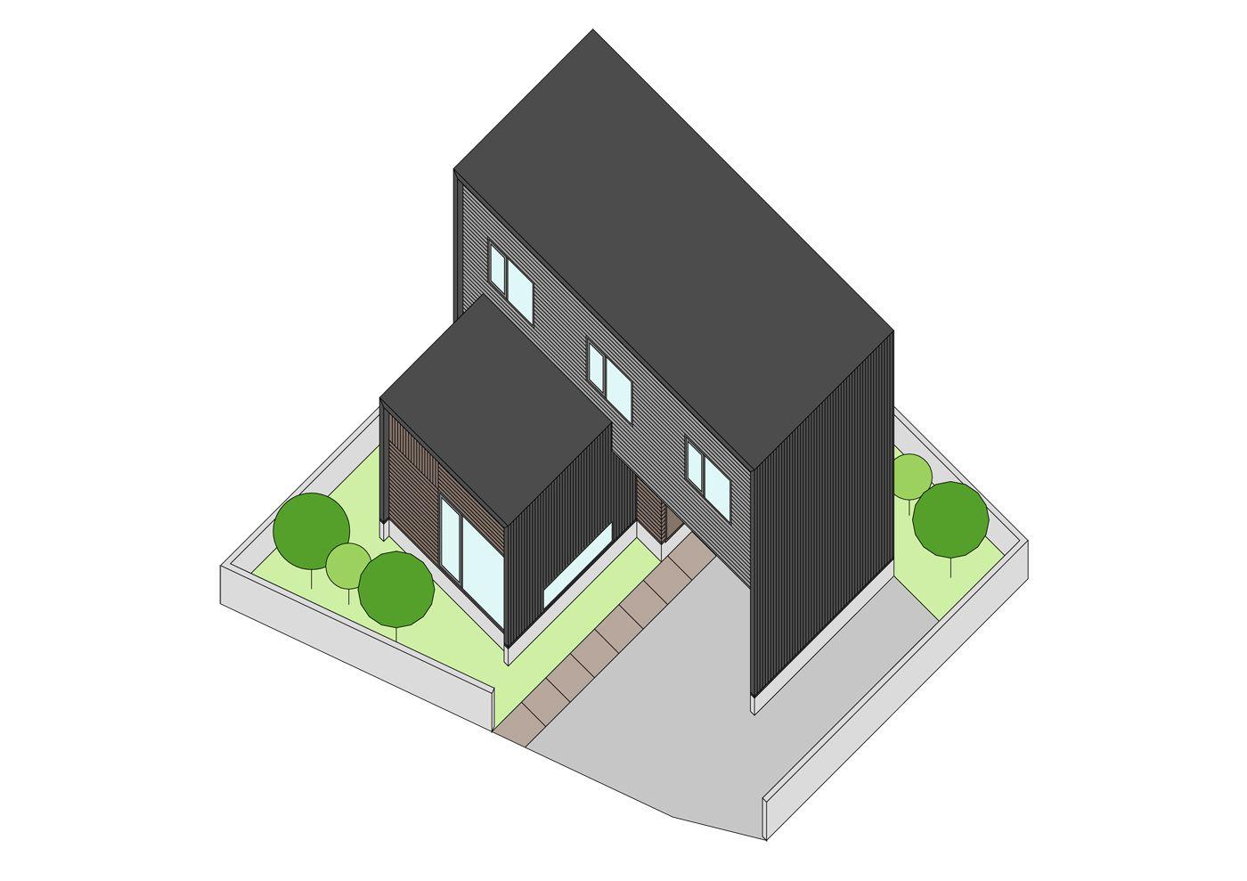 コンパクトな単身世帯住宅